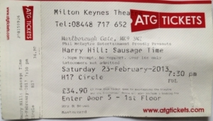 Harry Hill Ticket