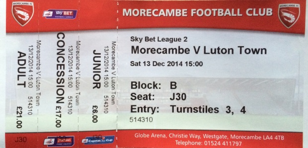 morecambe ticket